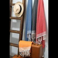 Fouta (rouge)